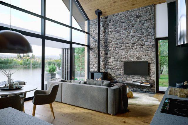 Okno ekologiczne OknoPlus w domu typu stodoła